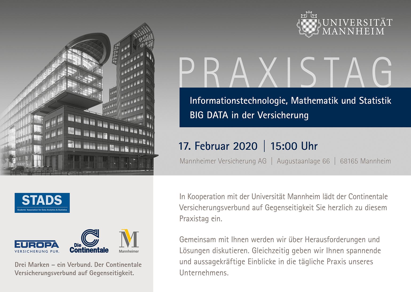 Praxistag Big Data bei der Mannheimer Versicherung